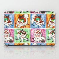 okami iPad Cases featuring Okami Set by Jazmine Phillips