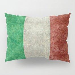 Italian flag, vintage retro style Pillow Sham