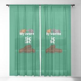 My favorite Tic Tac Sheer Curtain