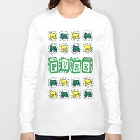 keith haring Long Sleeve T-shirts featuring PURE (Keith Haring Tribute) by Kerosene Bill