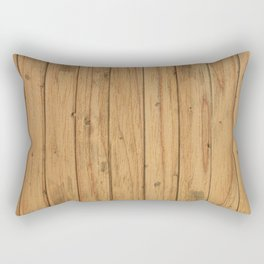 Rustic Wood Panel Pattern Rectangular Pillow