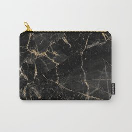 Black Marble with Golden Veinings (viii 2021) Carry-All Pouch