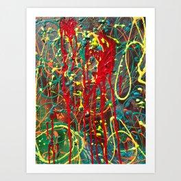 Red Mess Art Print