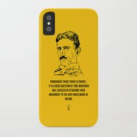 tesla iPhone & iPod Cases featuring Tesla Quote  by Purshue