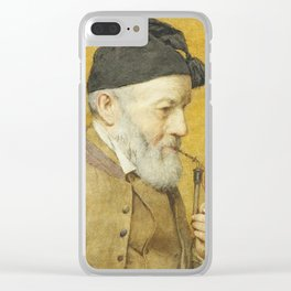 ANKER, ALBERT (1831 Ins 1910) Old farmer with whistle. 1910t Clear iPhone Case