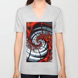 Fractal Art - Burning Web Unisex V-Neck