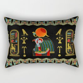 Egyptian Horus Ornament in colored glass and gold Rectangular Pillow