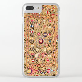Lakai Suzani Uzbekistan Central Asian Embroidery Print Clear iPhone Case