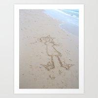 Sand Girl Art Print