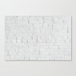 White Brick Wall - Photography Canvas Print