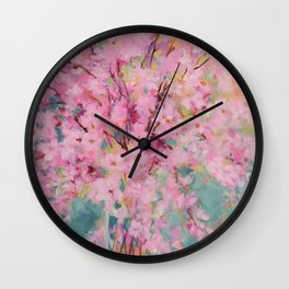 Spring Cherry Blossoms Wall Clock