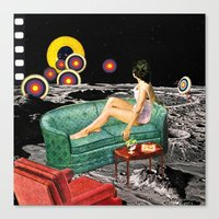 northern lights Canvas Prints featuring Northern Lights by Eugenia Loli