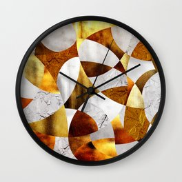 Curves - Silver and Gold Wall Clock