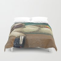 sloth Duvet Covers featuring Sloth by Ken Coleman