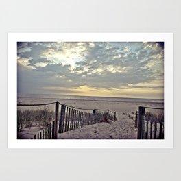 Beach Morning Art Print