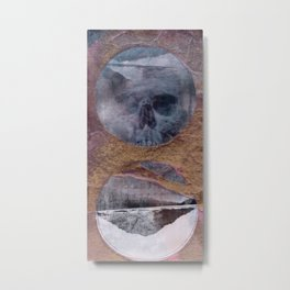 Skull Play 1 Metal Print