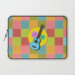 Fun colorful Ukuele and music notes Laptop Sleeve