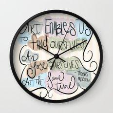 Art Enables Us Wall Clock