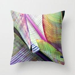 Banana Leaf Poetry Throw Pillow