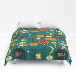 Family dinner Comforters