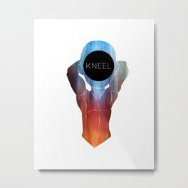 Kneel Metal Print