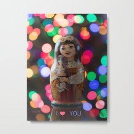 Valentines Day Matryoshka Nesting Doll Valentines Day Matryoshka Nesting Doll Metal Print