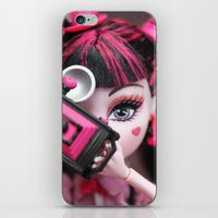 monster high iPhone & iPod Skins featuring Draculaura Monster High Dolls MHSQ by Renée
