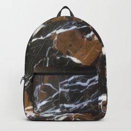 Stylish Polished Black Marble Backpack
