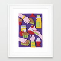 breakfast Framed Art Prints featuring Breakfast by Jacopo Rosati