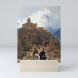 Caucasian View 1889 By Lev Lagorio | Reproduction | Russian Romanticism Painter Mini Art Print