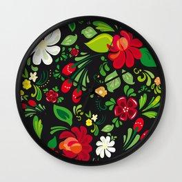Traditional Russian folk Wall Clock