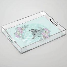 Pastel Fox Acrylic Tray