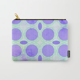 Pattern 3 Purple Carry-All Pouch