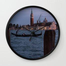 Venice Italy at Twilight Photography, Travel Italy Wall Art, Venetian Wall Art  Wall Clock