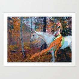En el Bosque de los Susurros Art Print
