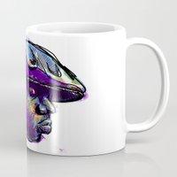 biggie smalls Mugs featuring Biggie Smalls by William Benitez