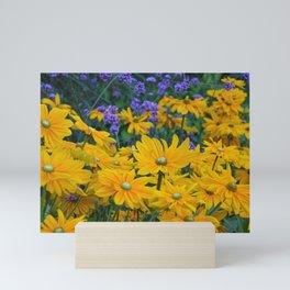Lovely yellow rudbeckia garden Mini Art Print