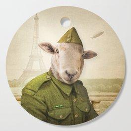 Private Leonard Lamb visits Paris Cutting Board