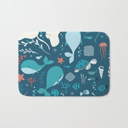 Sea creatures 004 Bath Mat