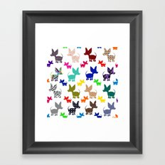colorful chihuahuas on parade  Framed Art Print