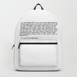 She was beautiful Backpack