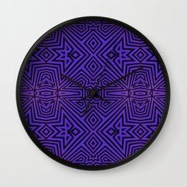 Purple/Black Tribal Pattern Wall Clock