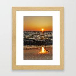 gold and tar Framed Art Print