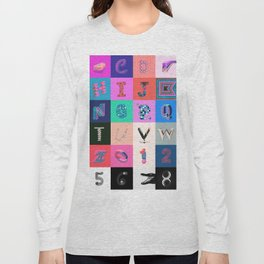 36 Days of Type Long Sleeve T-shirt