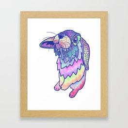 HAPPY EASTER RABBIT Framed Art Print