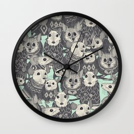 sweater mice mint Wall Clock