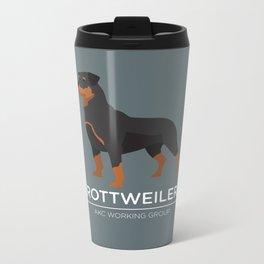 Rottweiler Metal Travel Mug