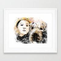 best friends Framed Art Prints featuring Best Friends by Fresh Doodle - JP Valderrama