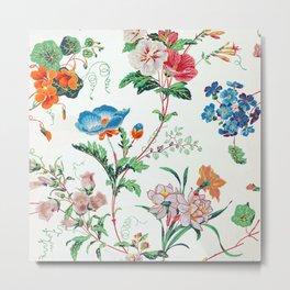 French Floral Wallpaper 1830 Metal Print