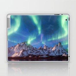 Aurora Borealis with Snow Laptop & iPad Skin